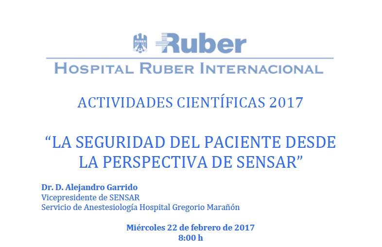 SENSAR en el Hospital Ruber
