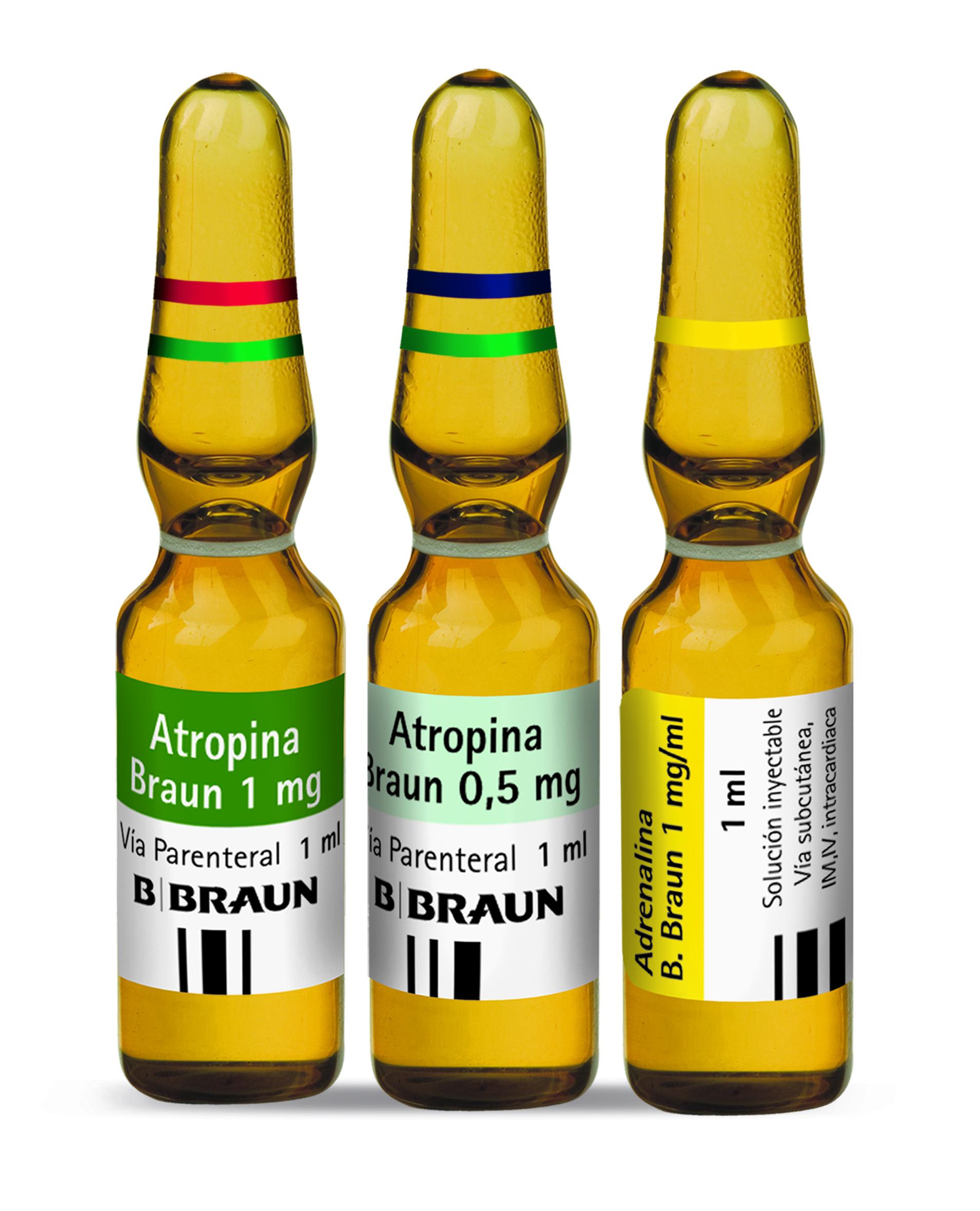 Se mejora el etiquetado de adrenalina y atropina