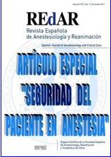 La Revista Española de Anestesiología y Reanimación (REDAR) publica un suplemento sobre Seguridad del paciente en Anestesia.