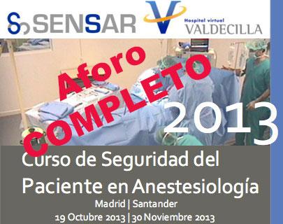 Curso de Seguridad del Paciente en Anestesiología 2013