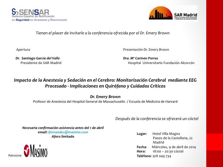 Conferencia sobre el Impacto de la Anestesia y Sedación en el Cerebro