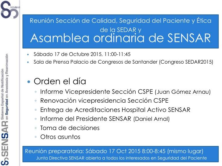 Asamblea Anual SENSAR 2015