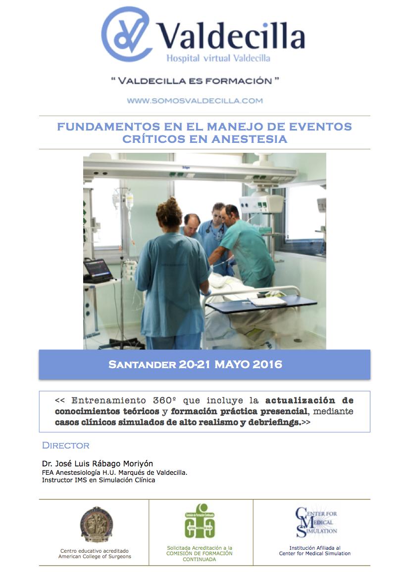 Eventos críticos en anestesia