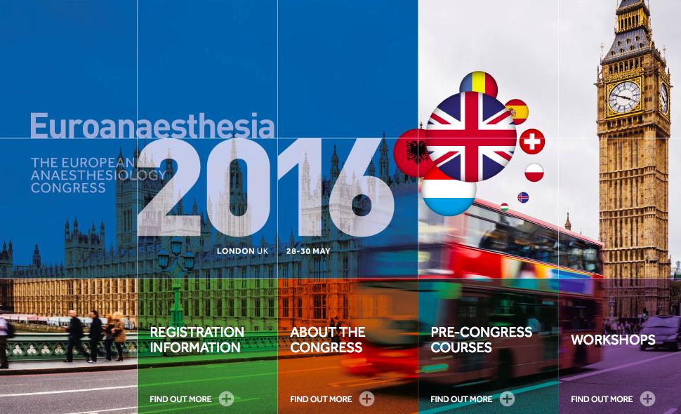 SENSAR y Seguridad del Paciente en Euroanesthesia2016
