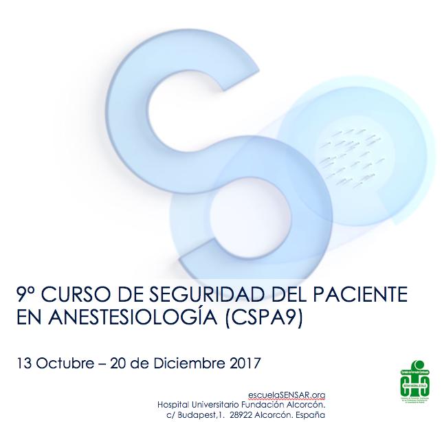 9ª Edición del Curso de Seguridad del Paciente en Anestesiología