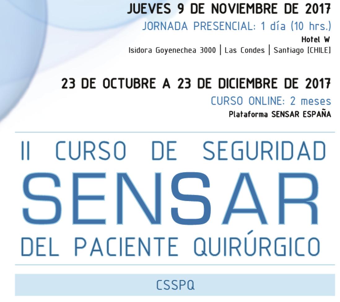 2º Curso SENSAR de Seguridad del Paciente Quirúrgico en Chile CSSPQ2