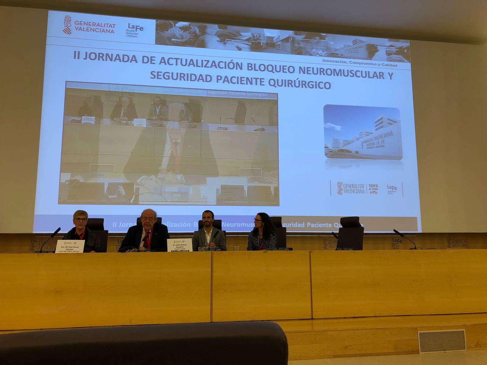 II jornada de actualización en bloqueo neuromuscular y seguridad del paciente en el Hospital Universitario La Fe