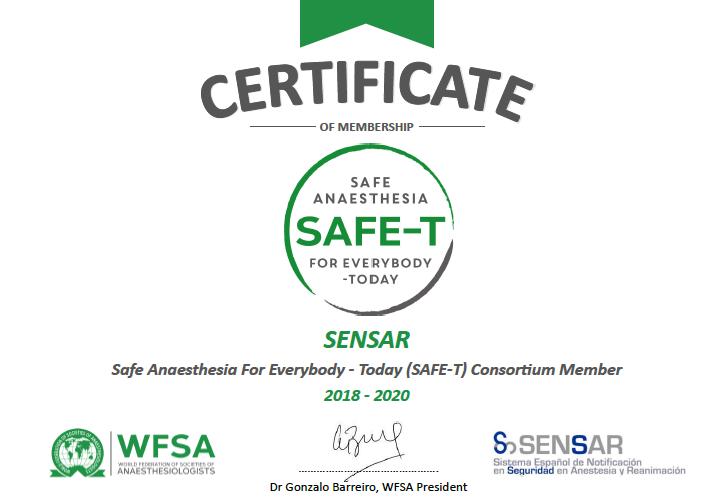 SENSAR se une al consorcio SAFE-T de la WFSA