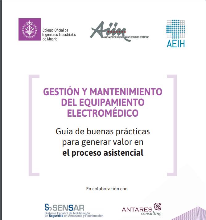 SENSAR participa en la Guía de Buenas Prácticas en Gestión y Mantenimiento de Electromedicina