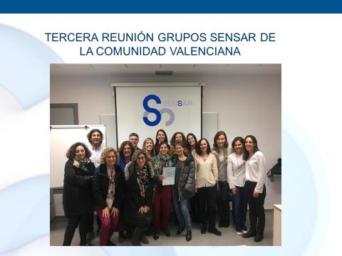 TERCERA REUNIÓN GRUPOS SENSAR DE LA COMUNIDAD VALENCIANA