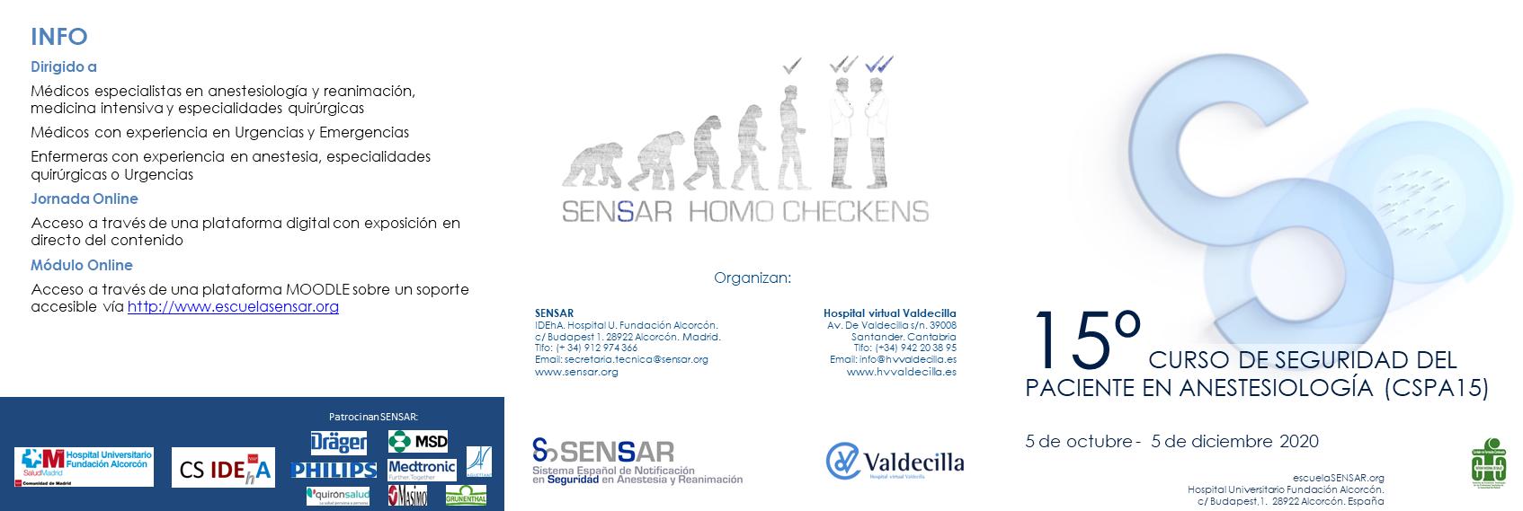 Curso de Seguridad del Paciente en Anestesiología – CSPA15