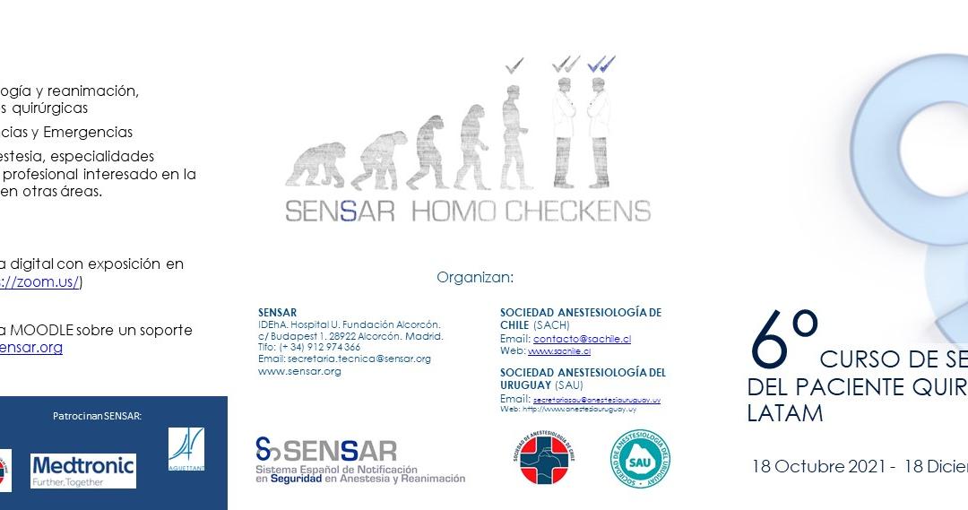Curso de Seguridad del Paciente Quirúrgico SENSAR-Latam CSSPQ6