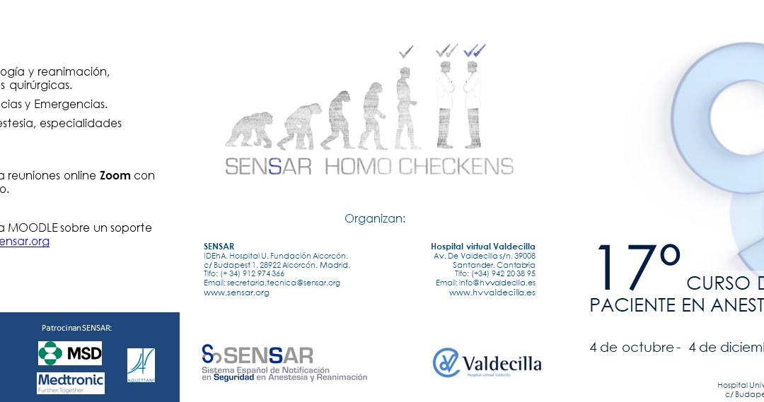 Curso de Seguridad del Paciente en Anestesiología – CSPA17